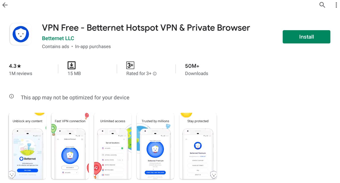 Betternet VPN For Windows