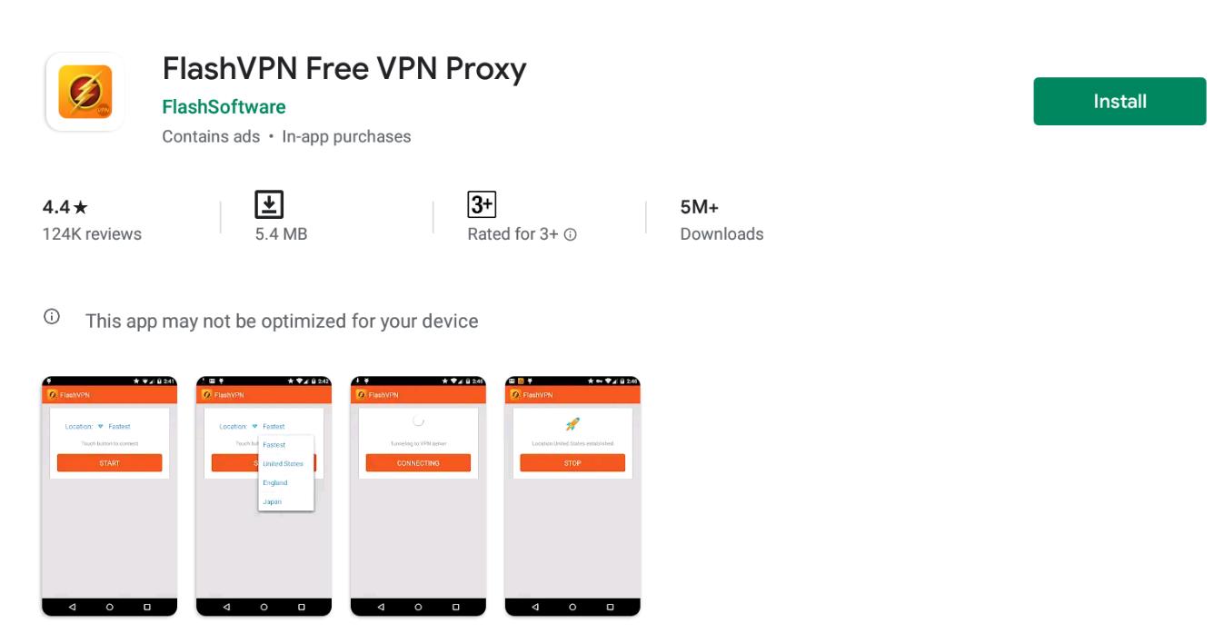 Flash VPN For Windows