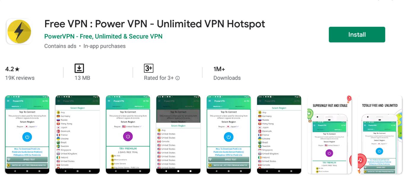 Power VPN For Windows