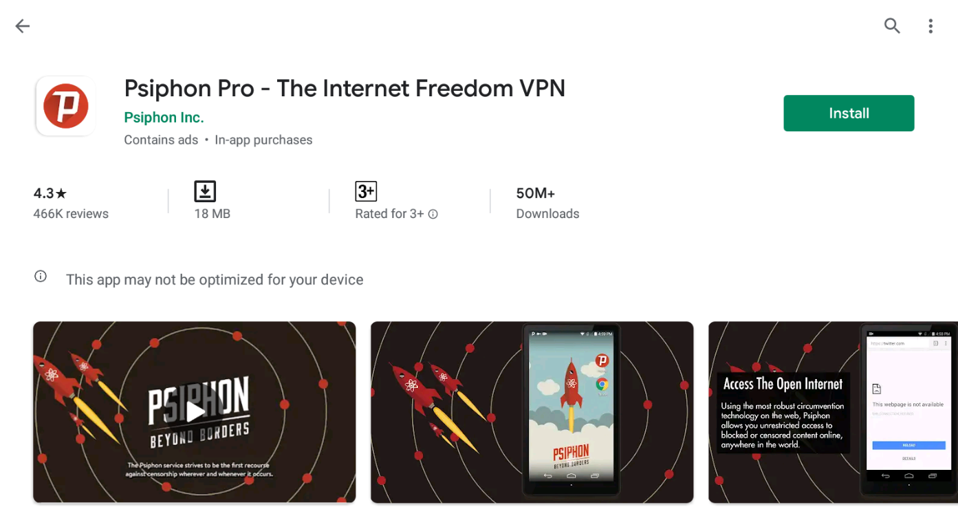 Psiphon Pro For Windows