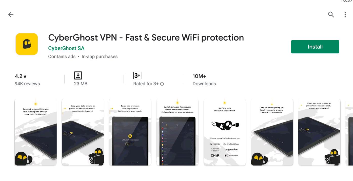 CyberGhost VPN For Windows