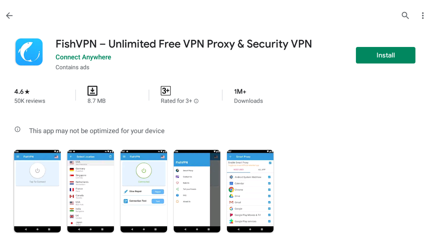 Fish VPN For Windows