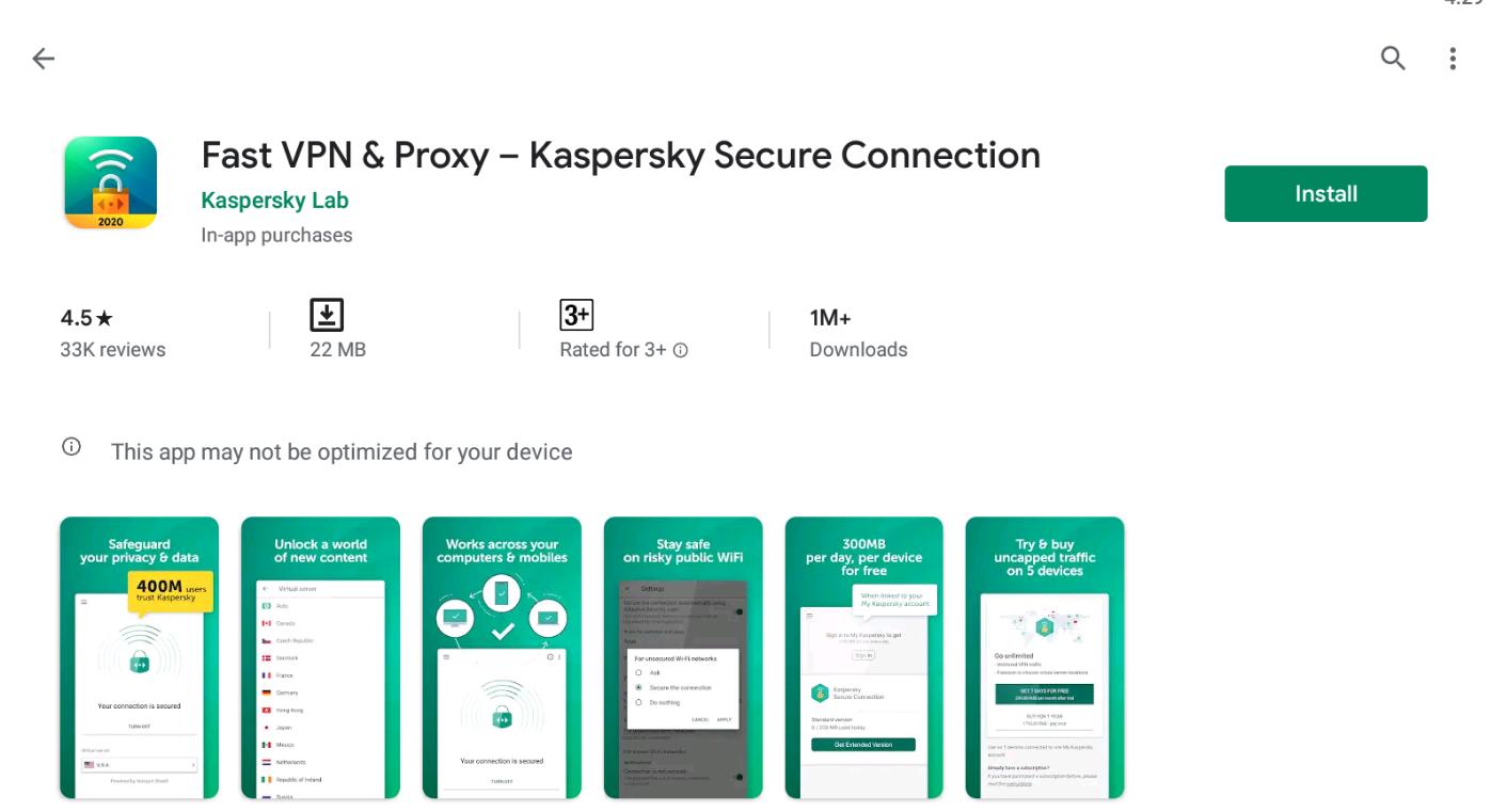 Kaspersky VPN for Mac