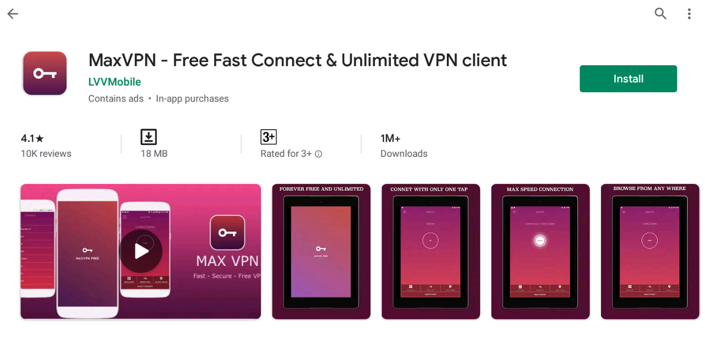 Max VPN For Windows