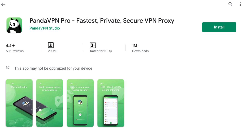 Panda VPN Pro For Windows