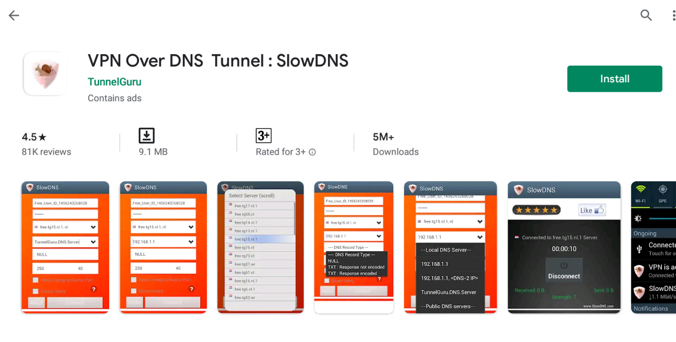 SlowDNS VPN For Windows