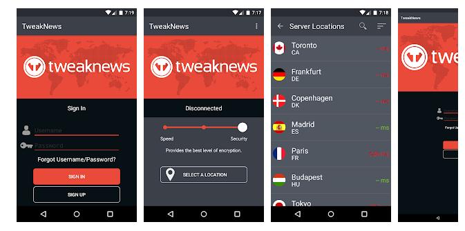 TweakNews VPN for PC
