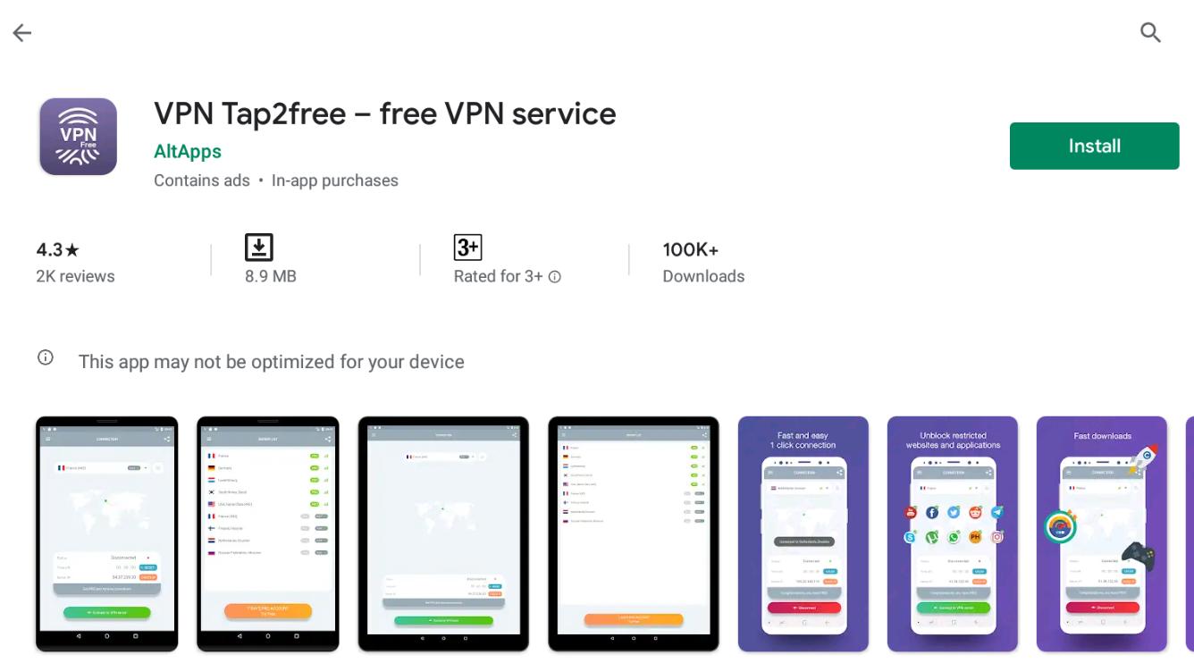 VPN Tap2free For Mac