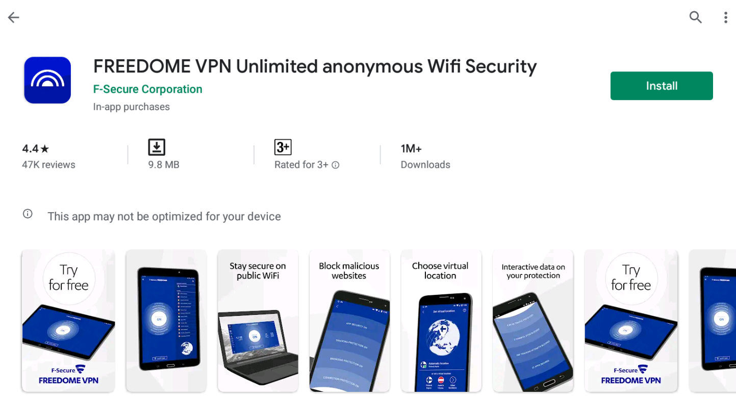 Freedome VPN for Windows