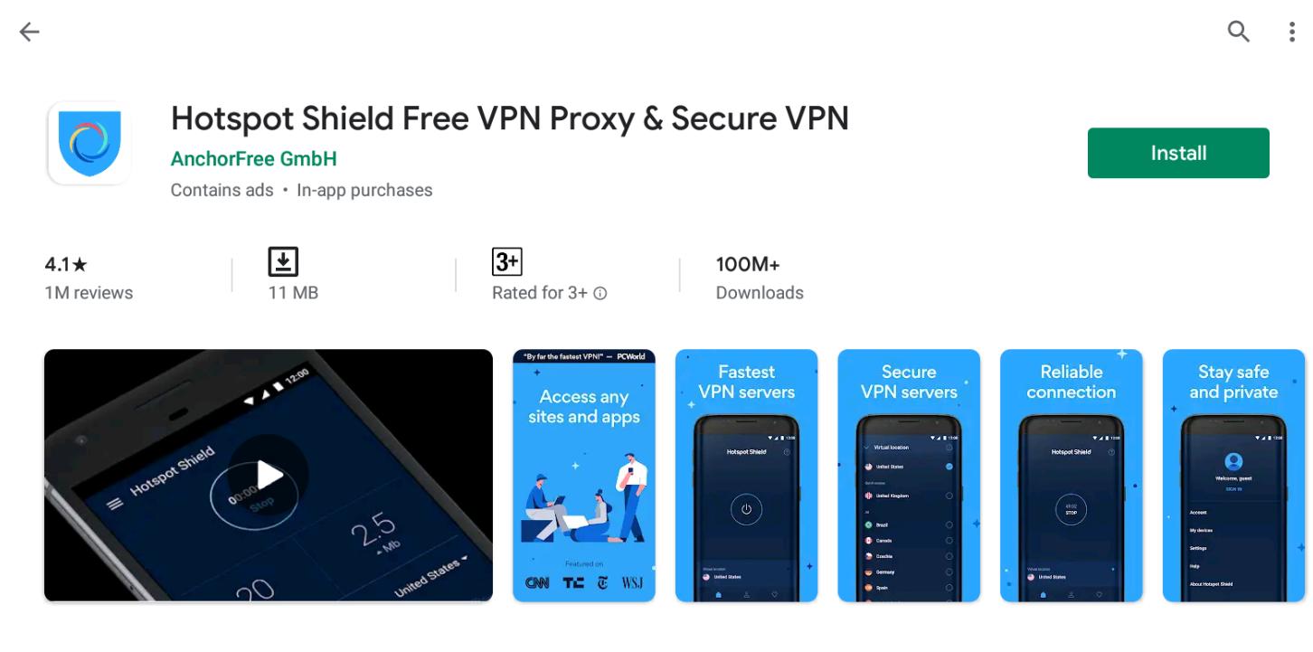 Hotspot Shield VPN for Windows