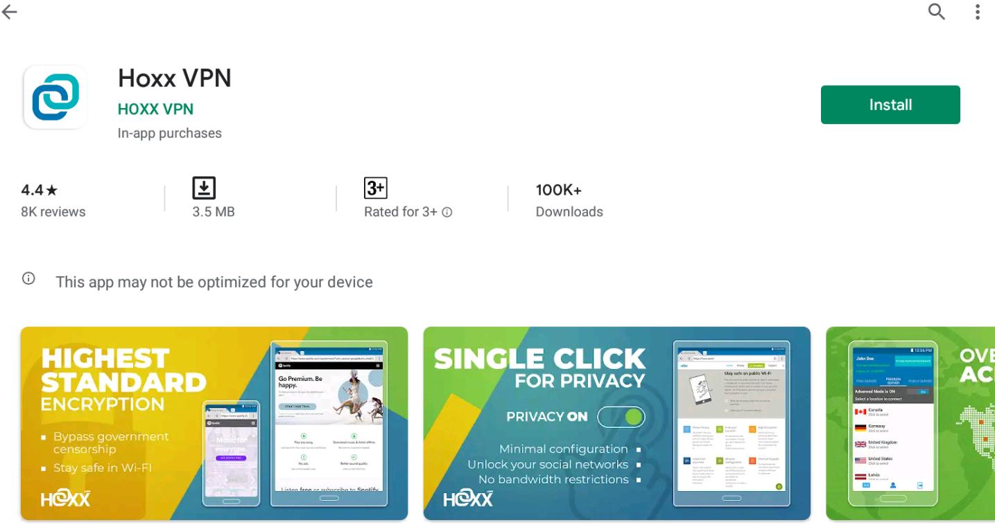 Hoxx VPN for Windows