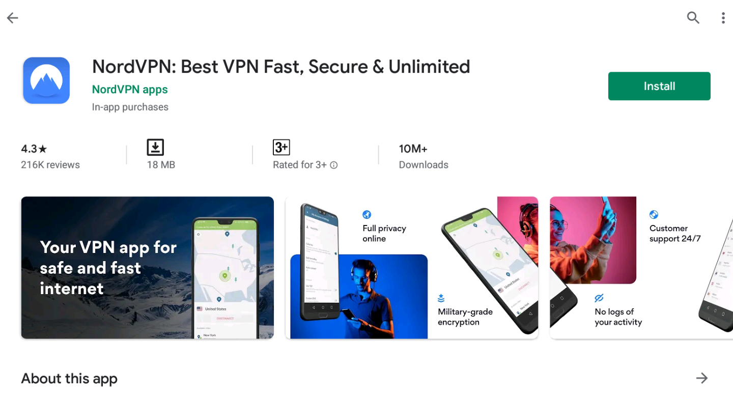 Nord VPN for Window