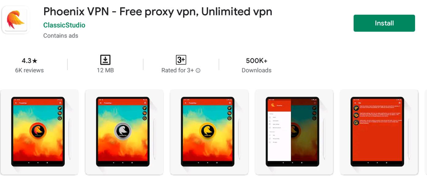 Phoenix VPN for Windows