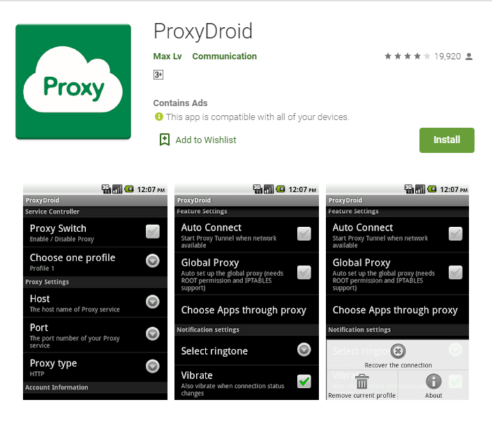 Proxydroid for windows