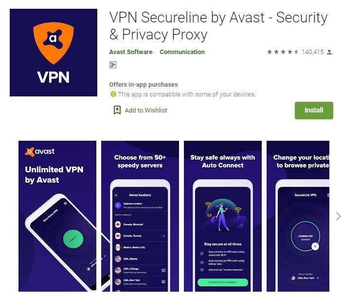 Secureline VPN for windows