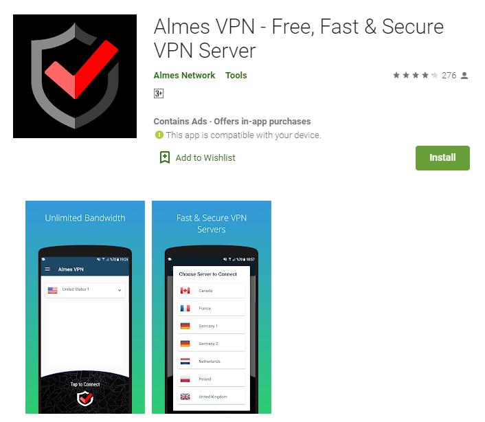 Almes VPN for mac