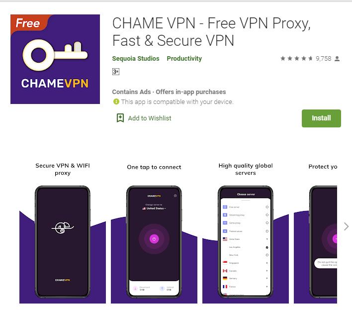 CHAME VPN for mac