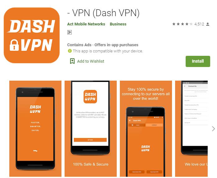 Dash VPN for mac