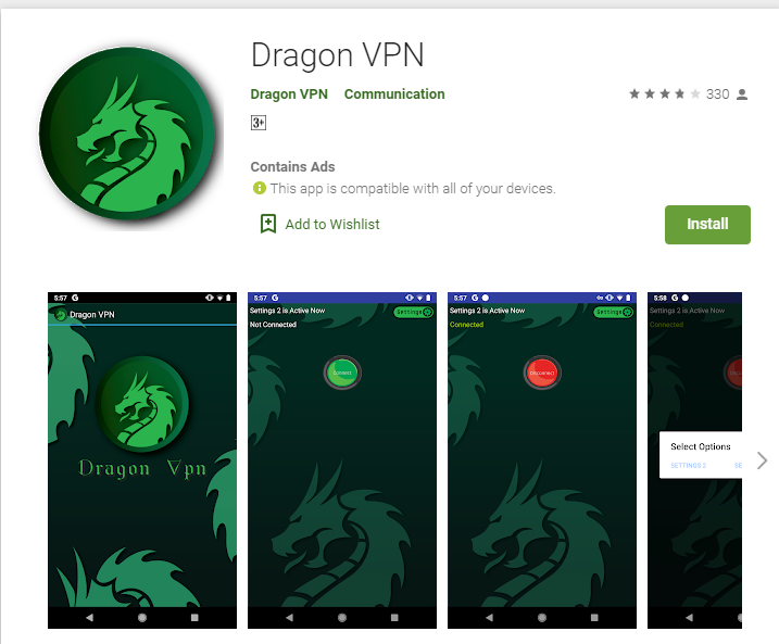 Dragon VPN for windows