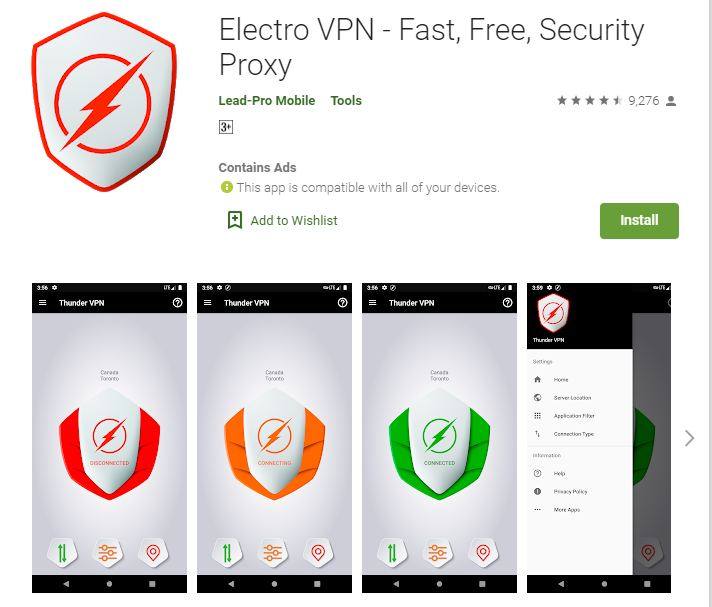 Electro VPN for windows