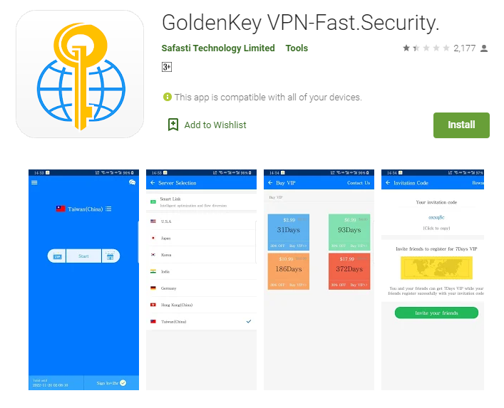GoldenKey VPN for mac