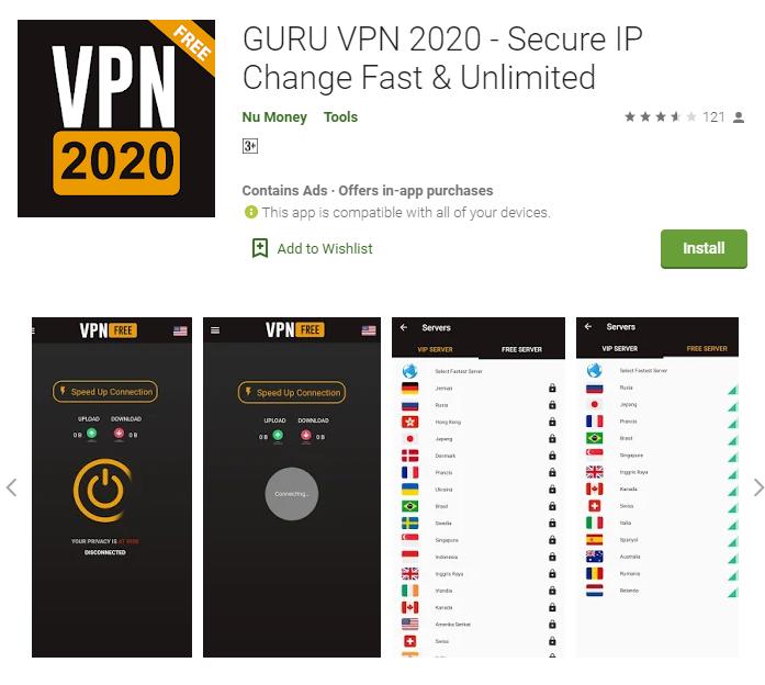 Guru VPN for windows