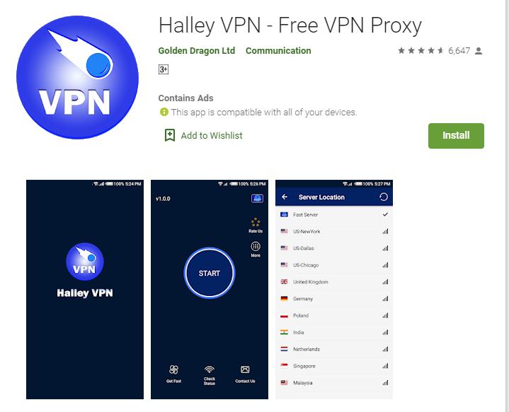 Halley VPN for mac