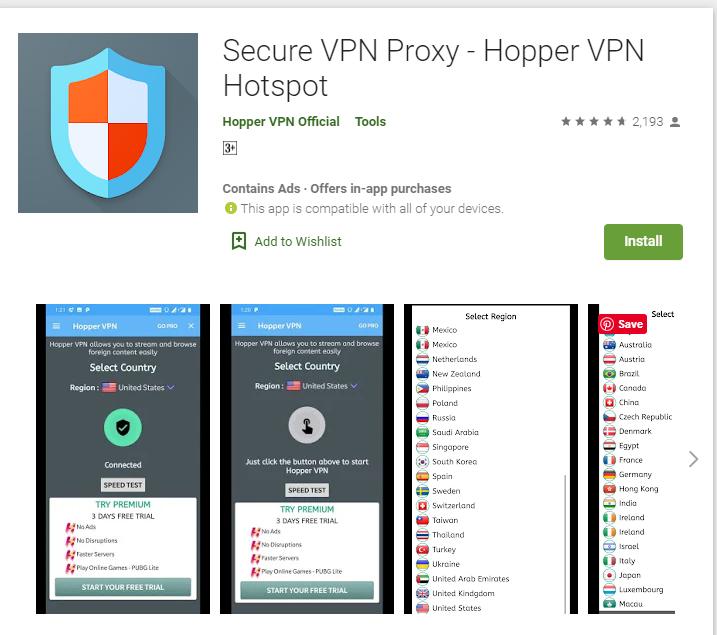 Hopper VPN for windows