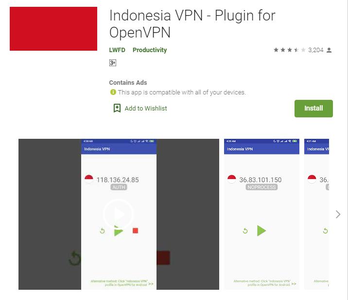 Indonesia VPN for windows