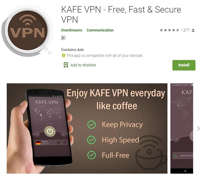 KAFE VPN for mac