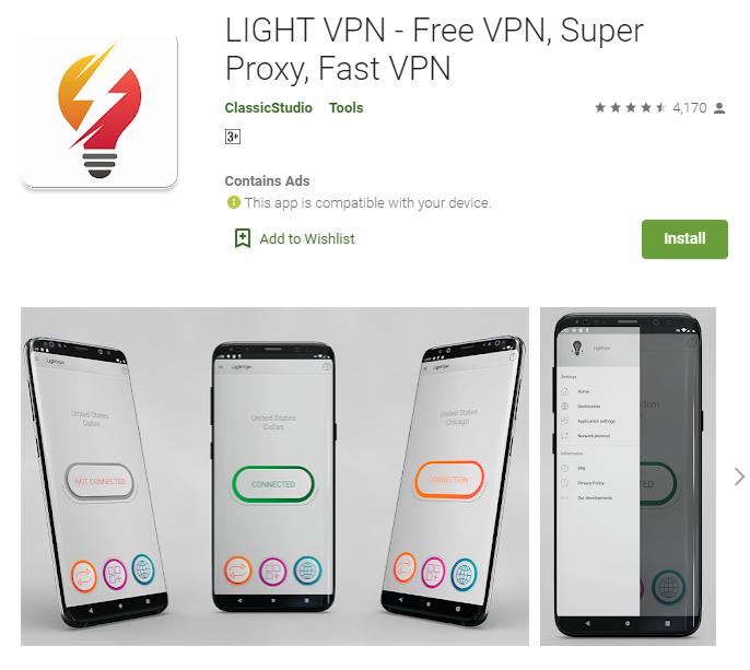 Light VPN for mac