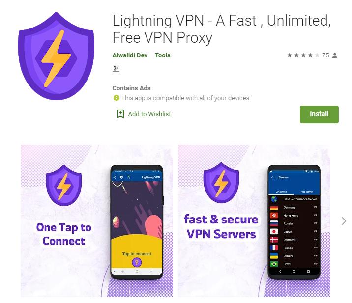 Lightning VPN for windows