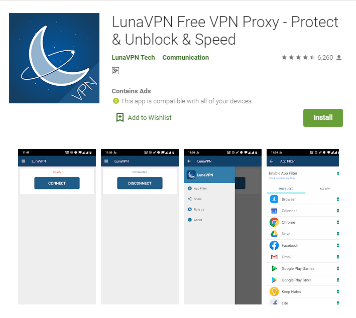 Luna VPN for windows