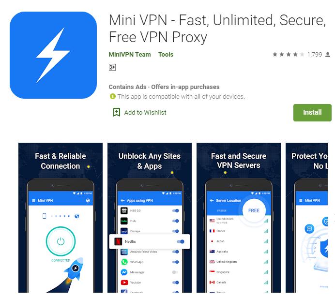 Mini VPN for windows