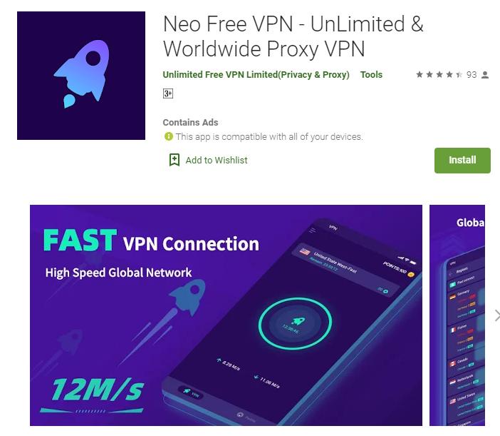 Neo VPN for windows
