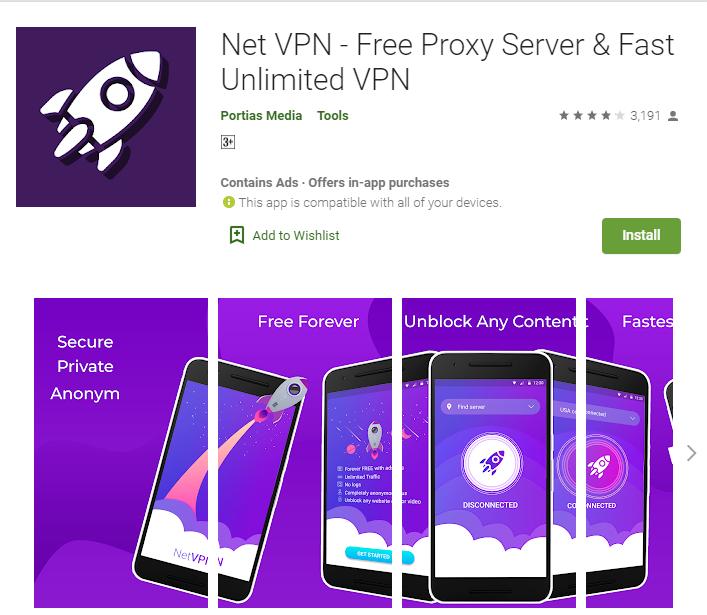 Net VPN for windows