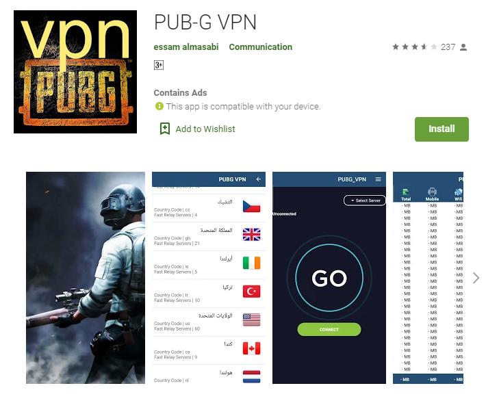 PUB-G VPN for windows