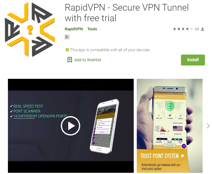 Rapid VPN for mac