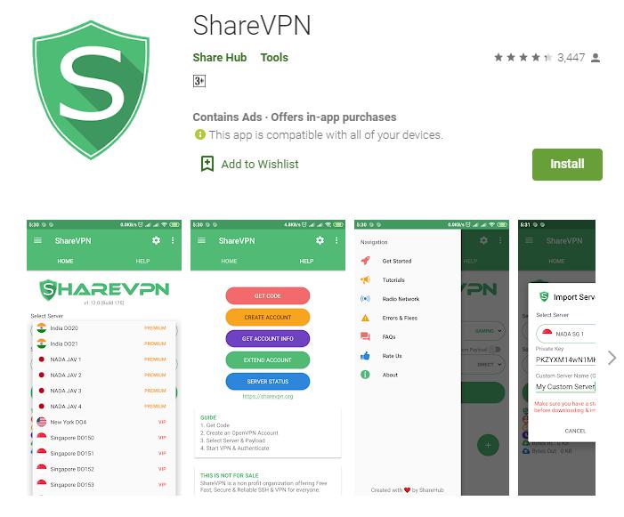 Share VPN for mac
