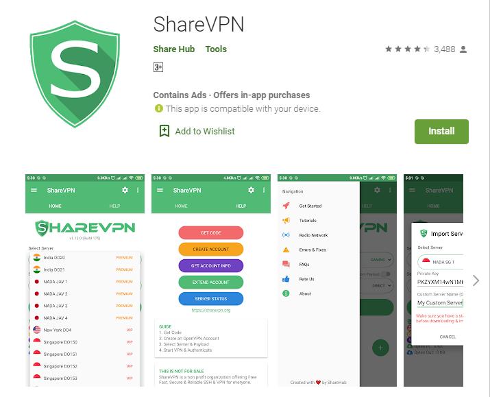 Share VPN for windows