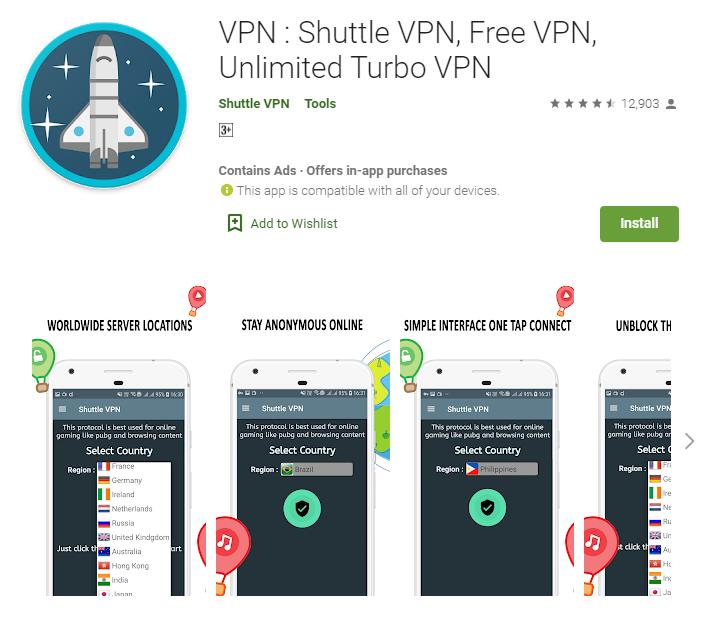 Shuttle VPN for windows