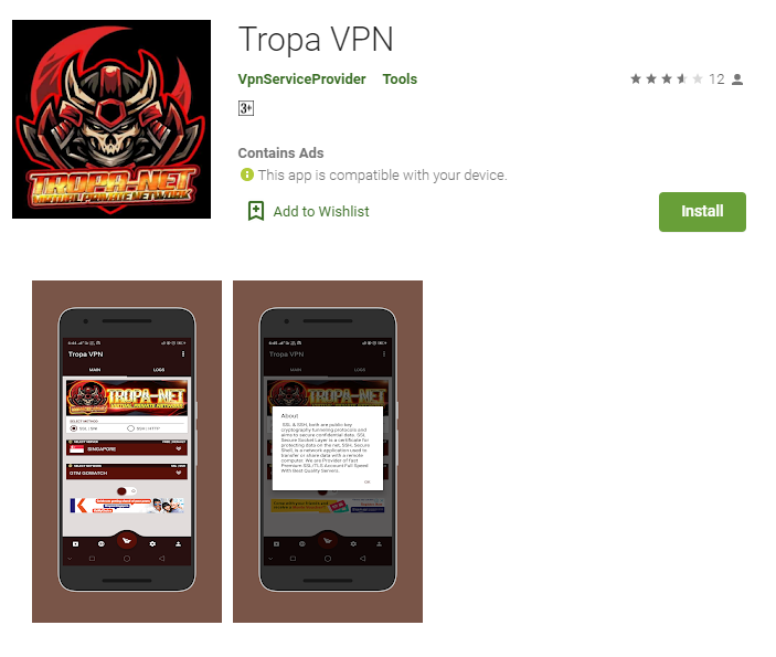 Tropa VPN for windows