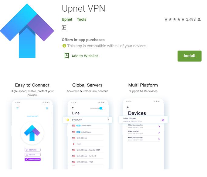 Upnet VPN for mac