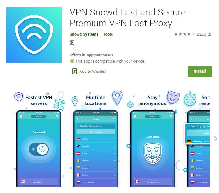 VPN Snowed for windows