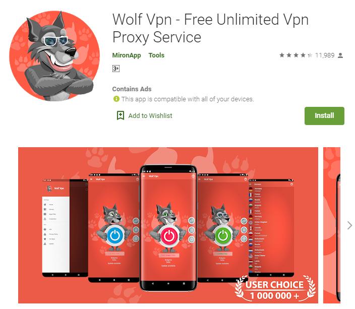 Wolf VPN for windows