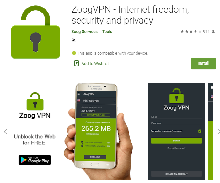 Zoog VPN for windows