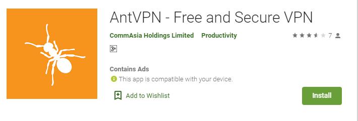 Ant VPN for Windows