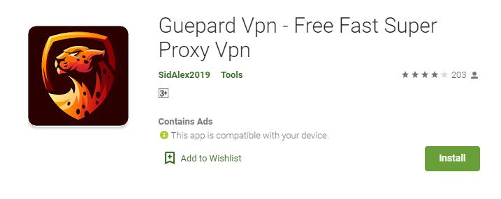 Guepard VPN for Mac