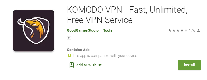 KOMODo VPN for Mac