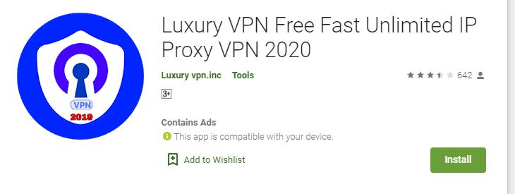 Luxury VPN for Windows
